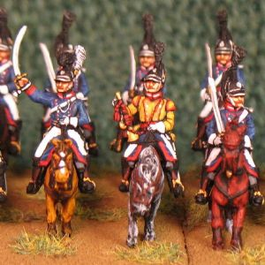 15mm, Napoleonic Wurttemberg Leib Chevaulegers AB 12 figures
